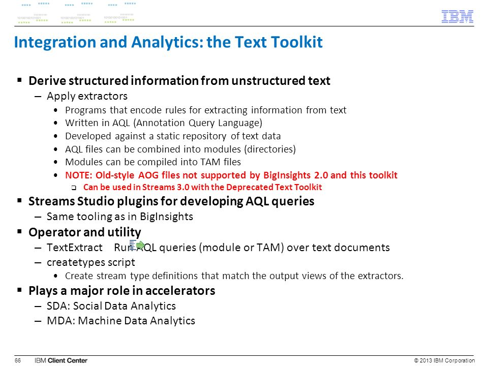 Integration and Analytics: the Text Toolkit
