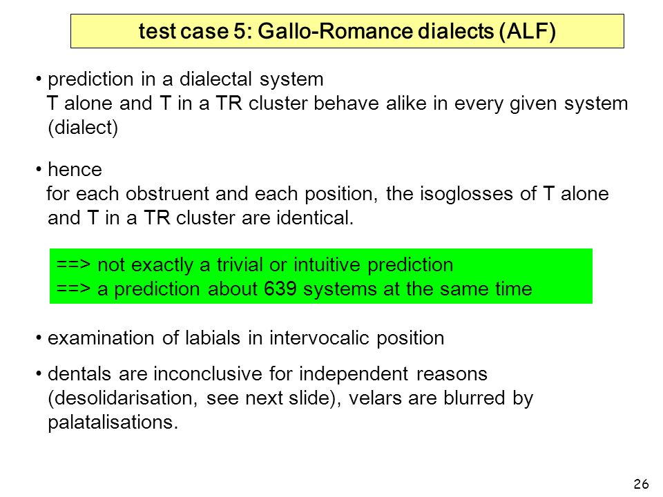 test case 5: Gallo-Romance dialects (ALF)