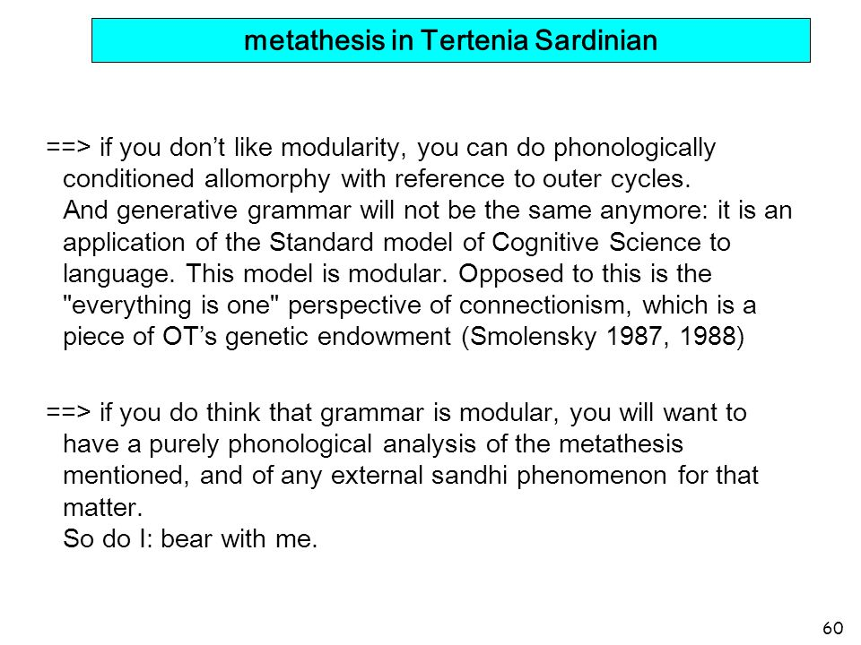 metathesis in Tertenia Sardinian