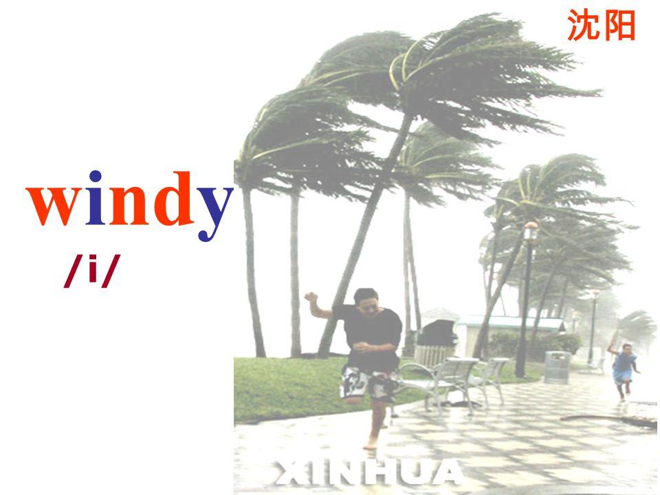 沈阳 windy /i/