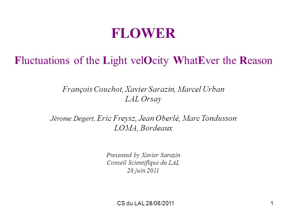 FLOWER Fluctuations of the Light velOcity WhatEver the Reason
