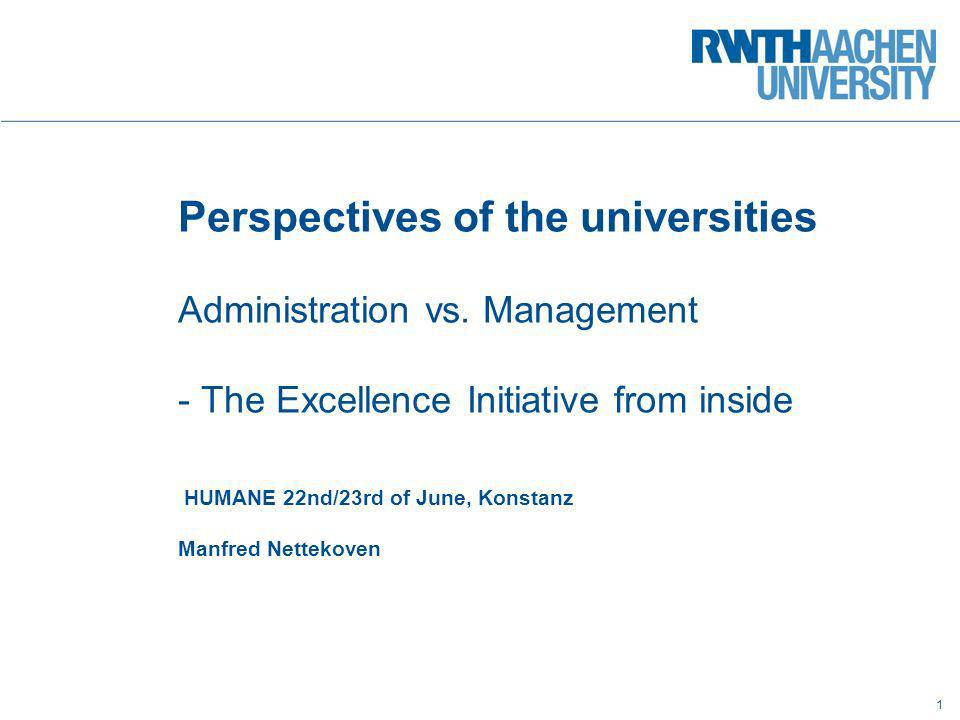 Perspectives of the universities Administration vs
