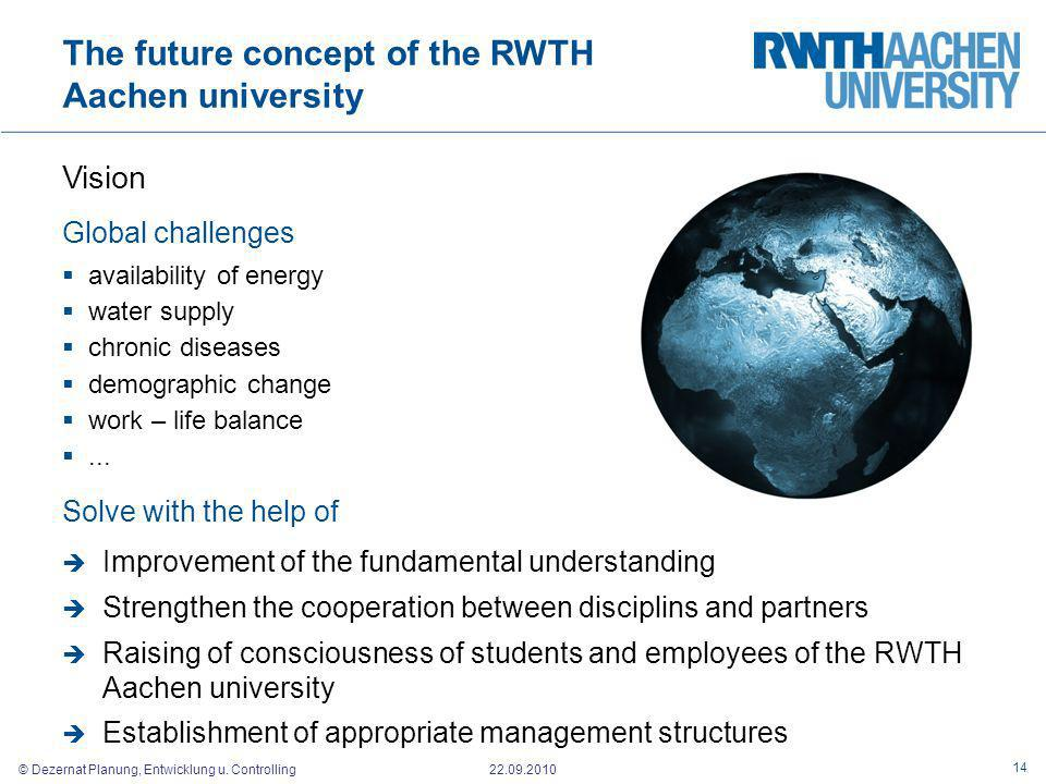 The future concept of the RWTH Aachen university