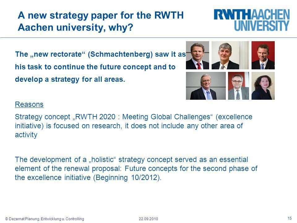 A new strategy paper for the RWTH Aachen university, why