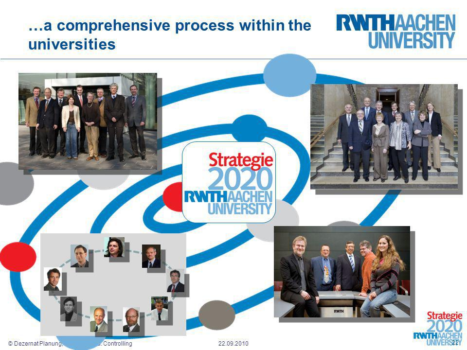 …a comprehensive process within the universities