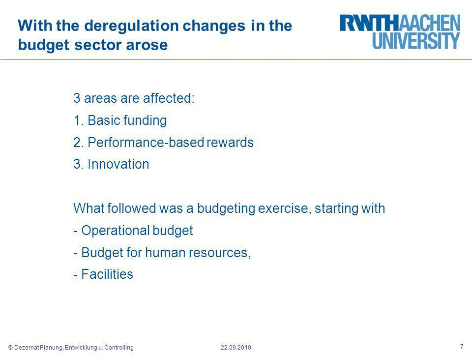 With the deregulation changes in the budget sector arose