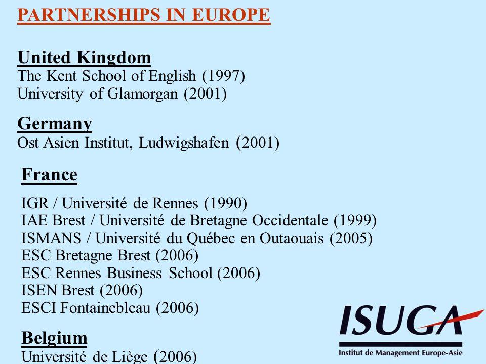 PARTNERSHIPS IN EUROPE