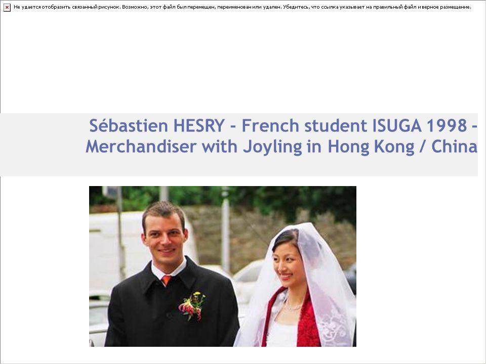 Sébastien HESRY - French student ISUGA 1998 - Merchandiser with Joyling in Hong Kong / China