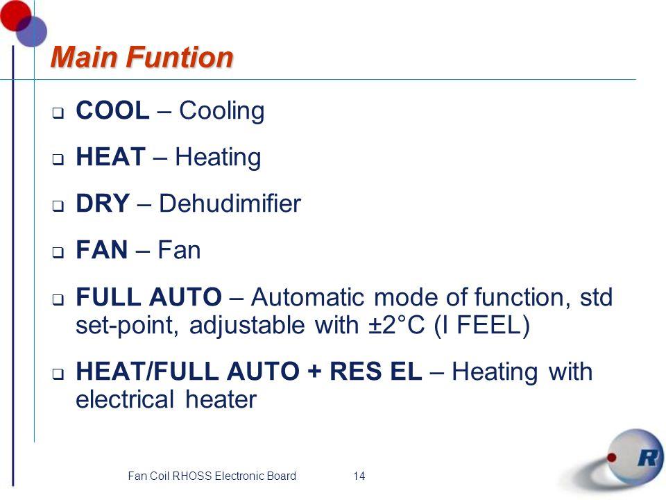 Fan Coil RHOSS Electronic Board