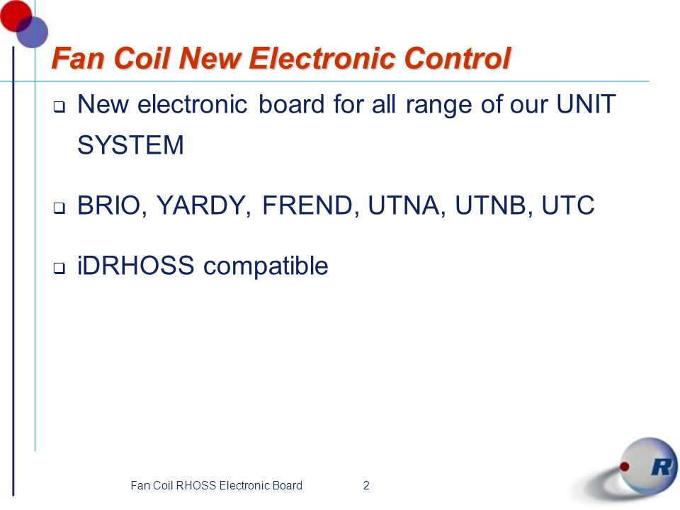 Fan Coil New Electronic Control