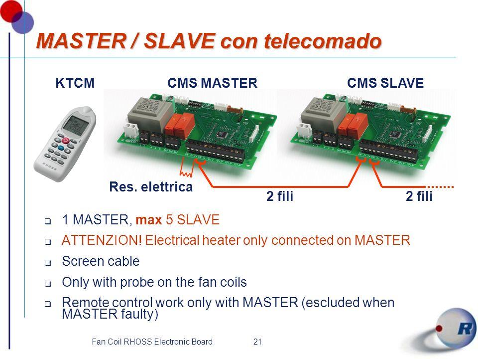 MASTER / SLAVE con telecomado