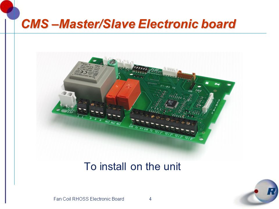 CMS –Master/Slave Electronic board