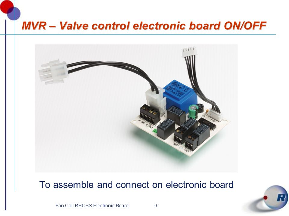 MVR – Valve control electronic board ON/OFF