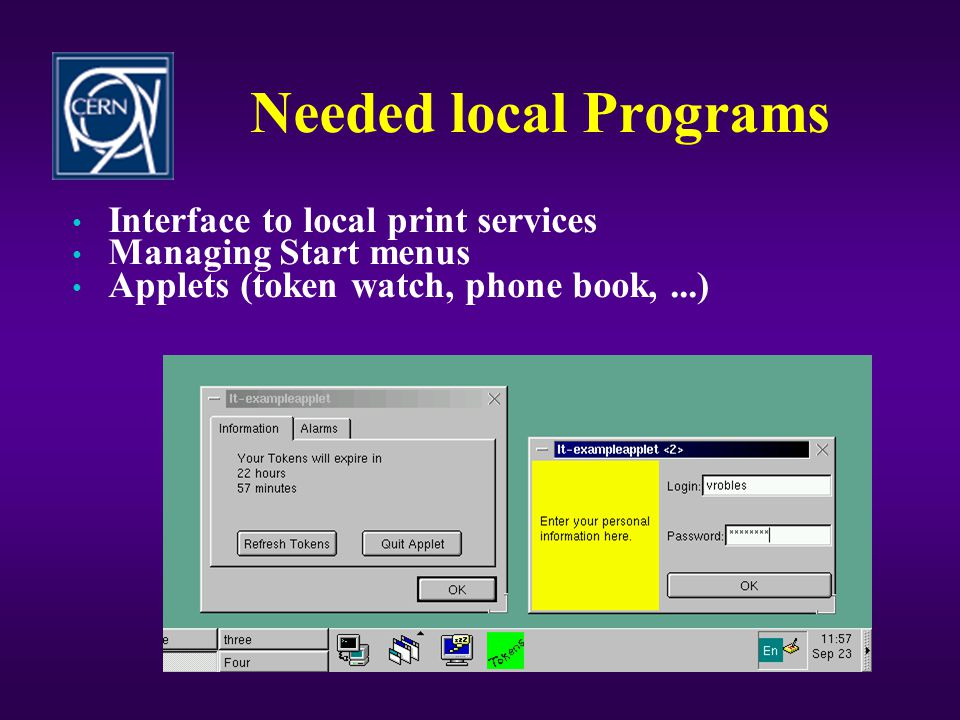 Needed local Programs Interface to local print services