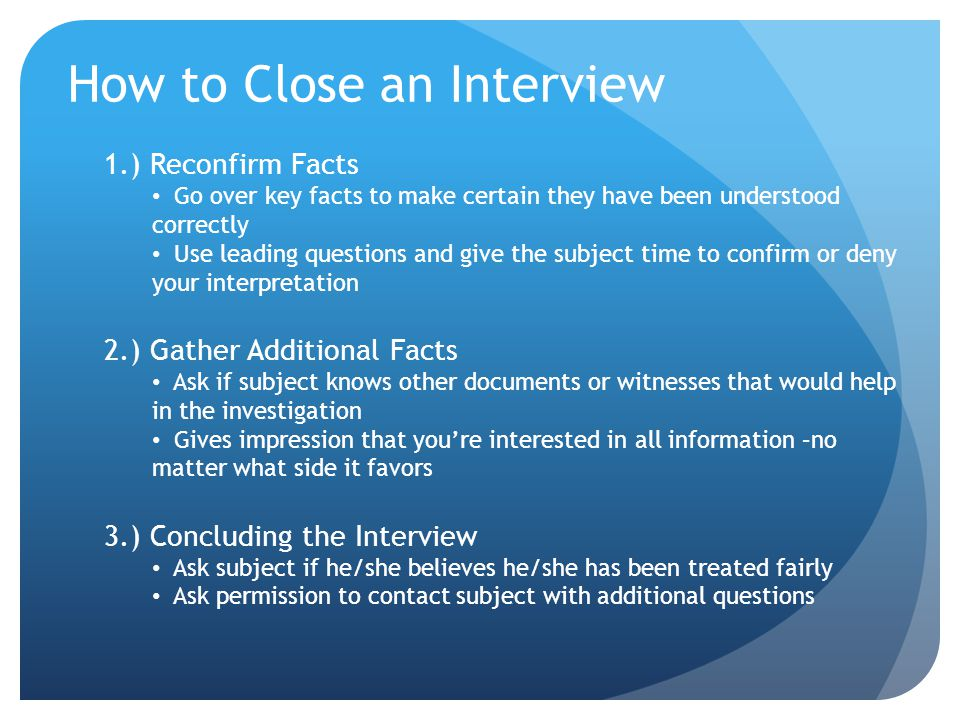 How to Close an Interview