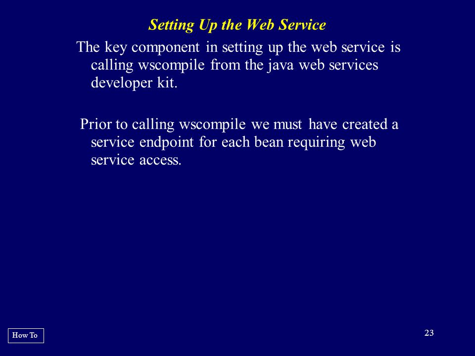 Setting Up the Web Service