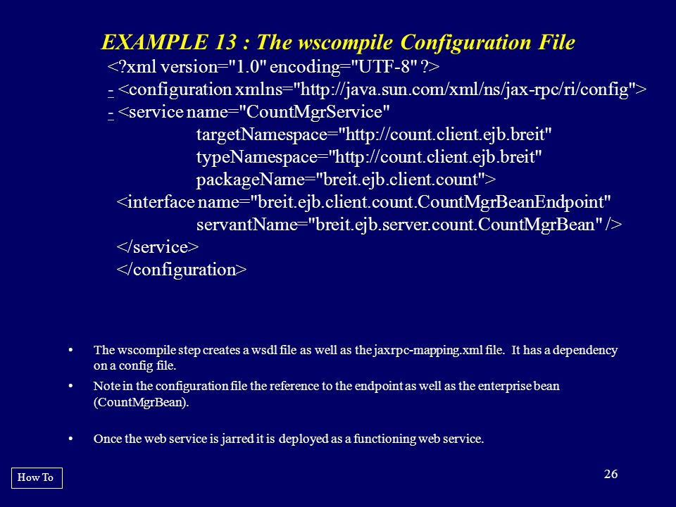 EXAMPLE 13 : The wscompile Configuration File