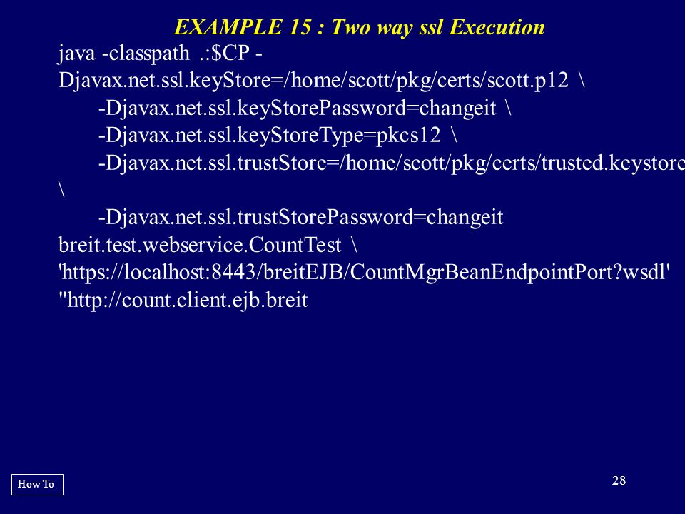 EXAMPLE 15 : Two way ssl Execution