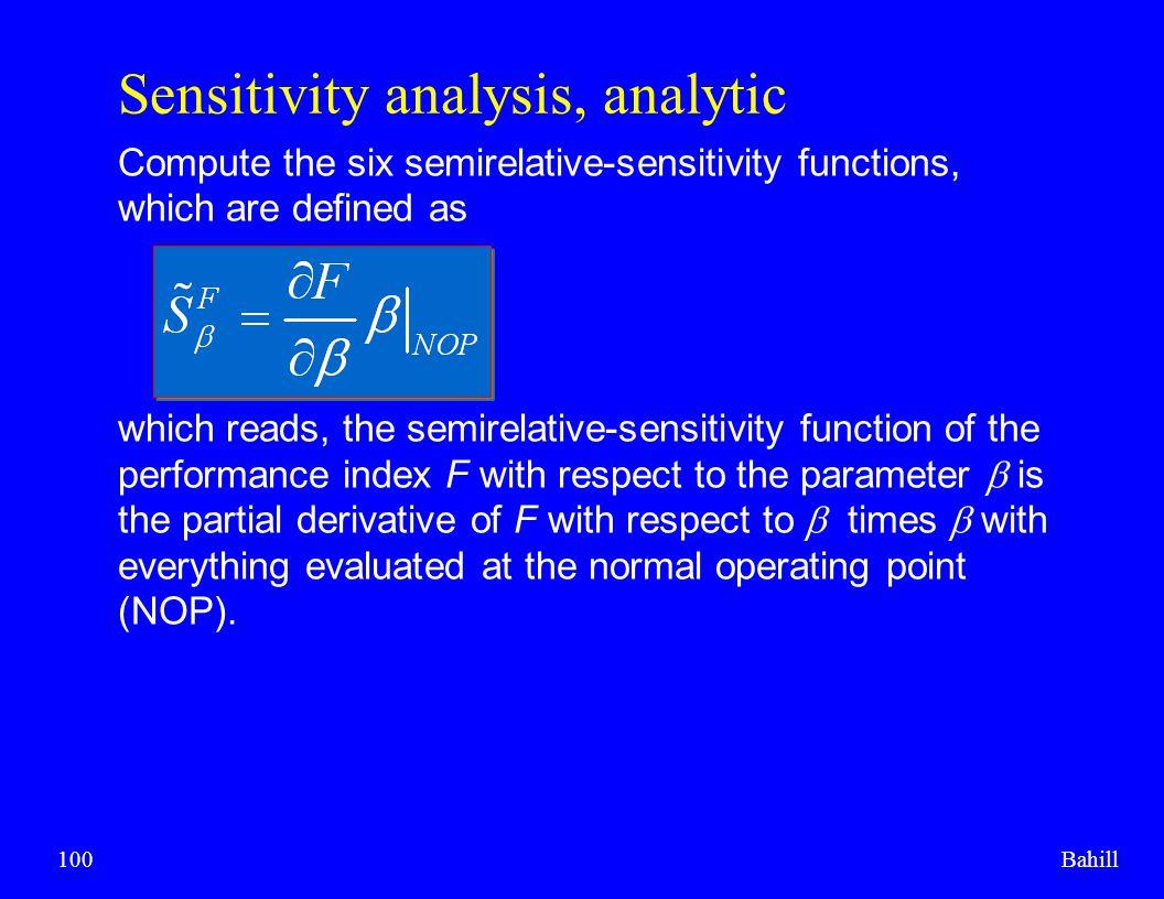 Sensitivity analysis, analytic