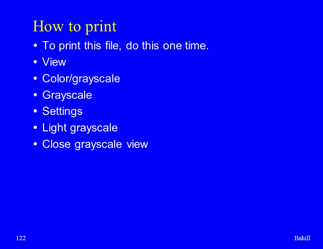 How to print To print this file, do this one time. View
