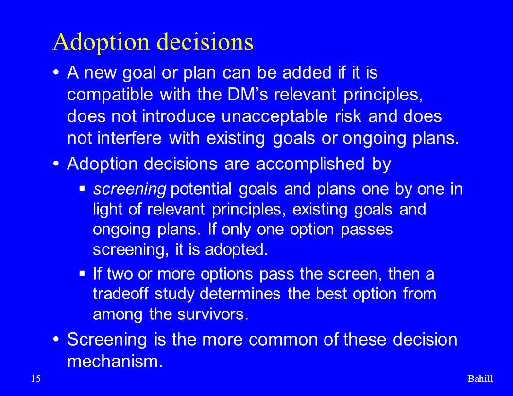 Adoption decisions