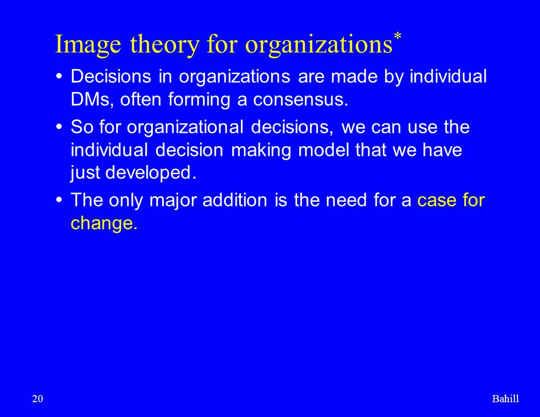 Image theory for organizations*