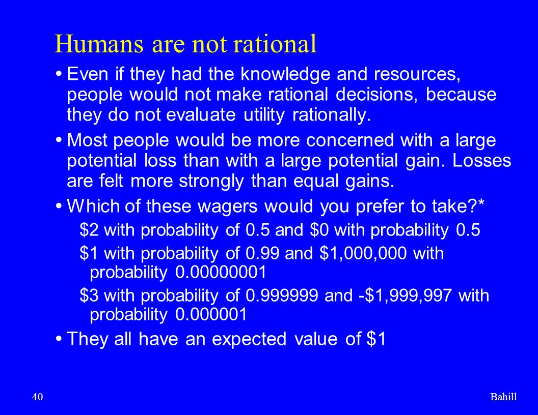 Humans are not rational