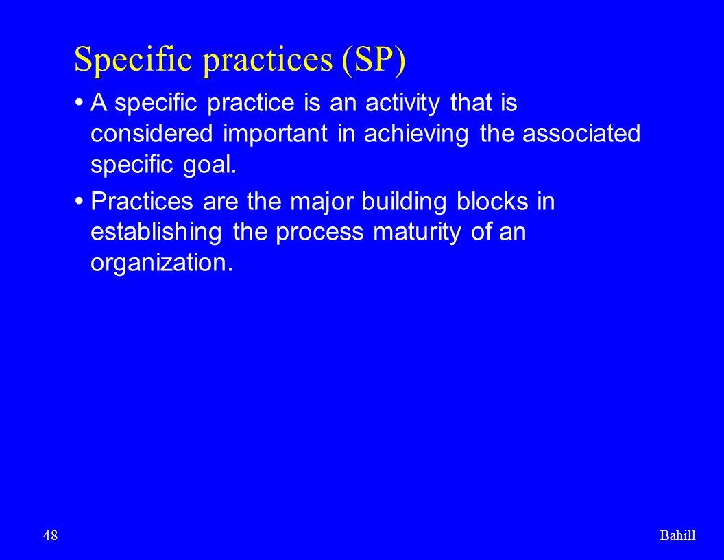 Specific practices (SP)