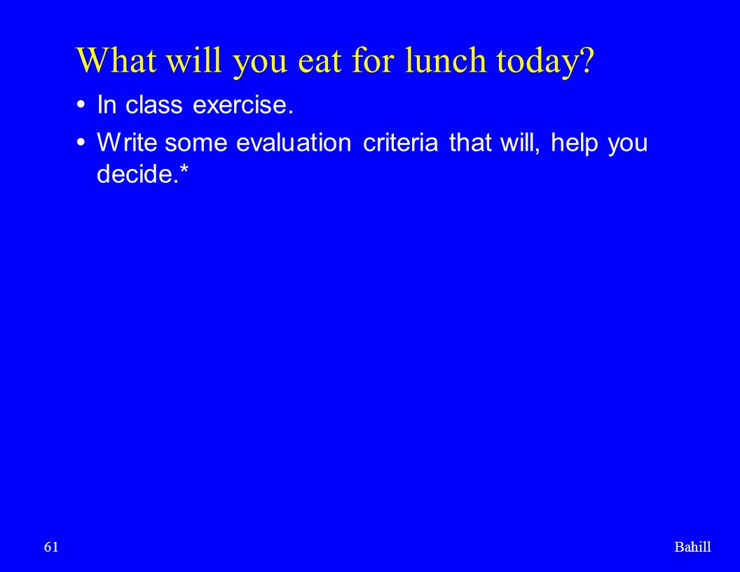 What will you eat for lunch today