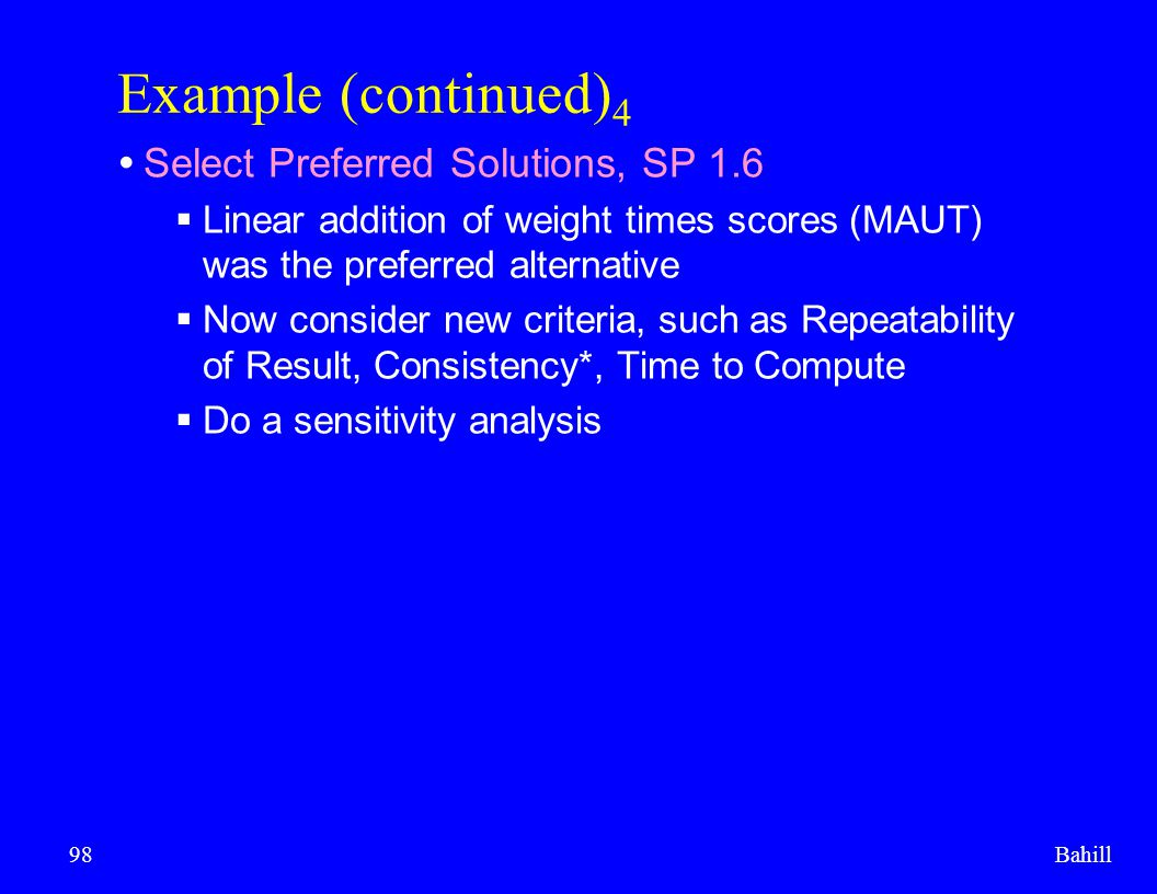 Example (continued)4 Select Preferred Solutions, SP 1.6