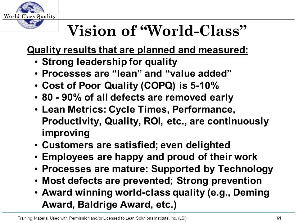 Vision of World-Class