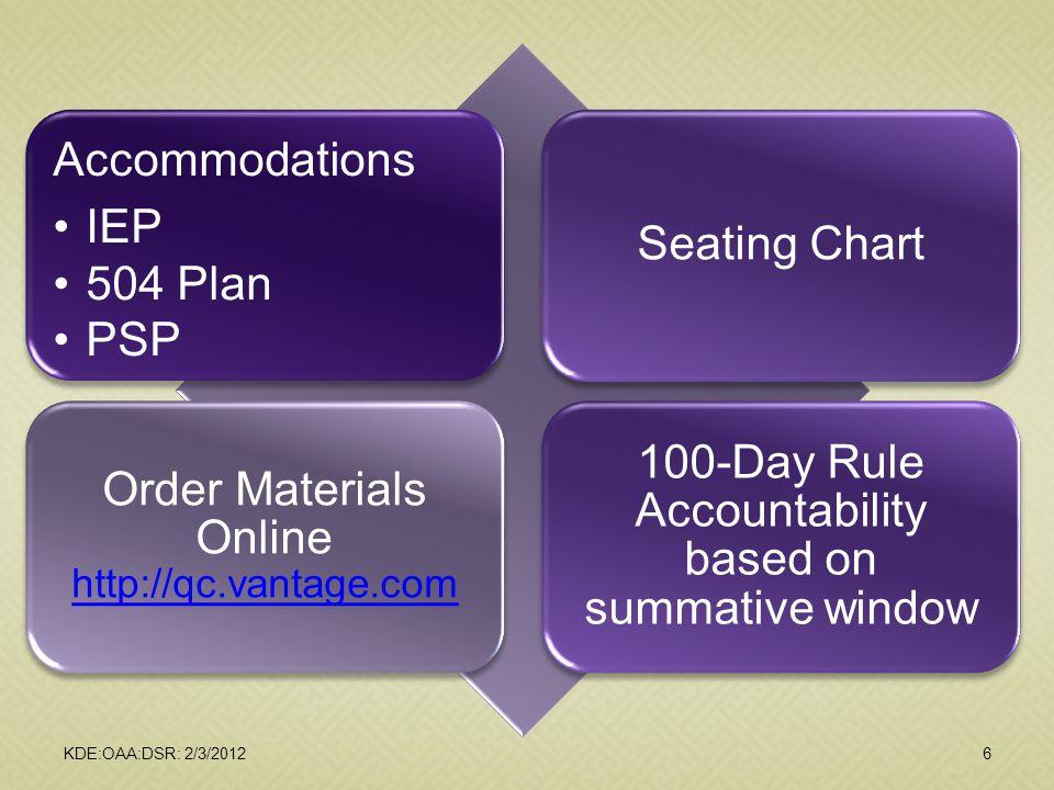 Order Materials Online http://qc.vantage.com