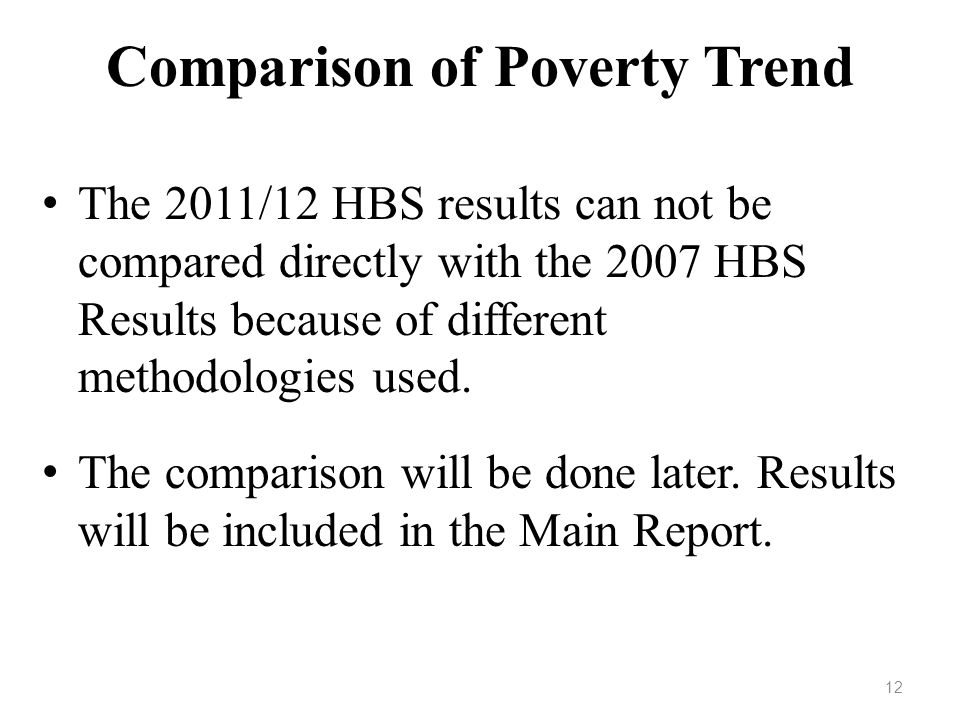 Comparison of Poverty Trend