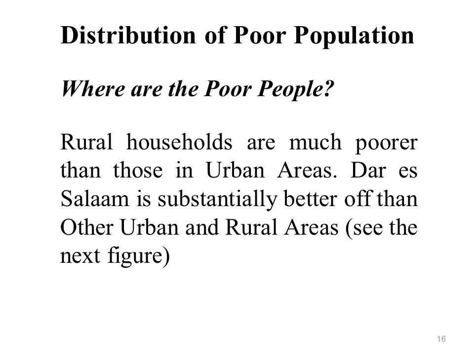 Distribution of Poor Population