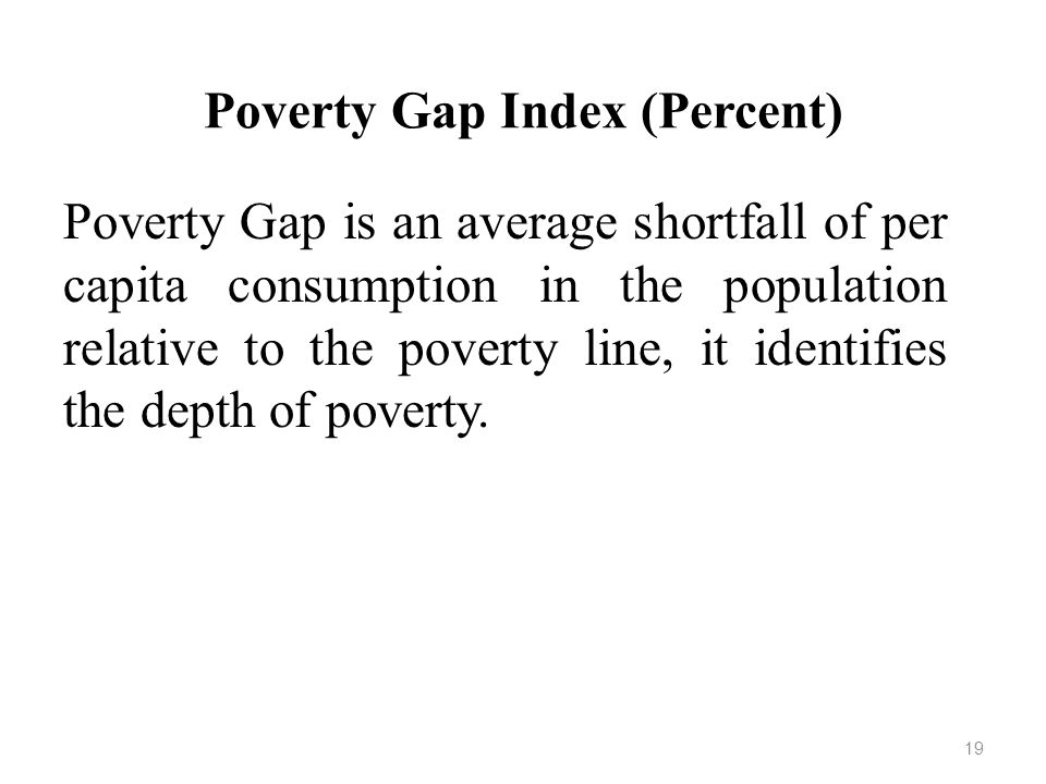 Poverty Gap Index (Percent)