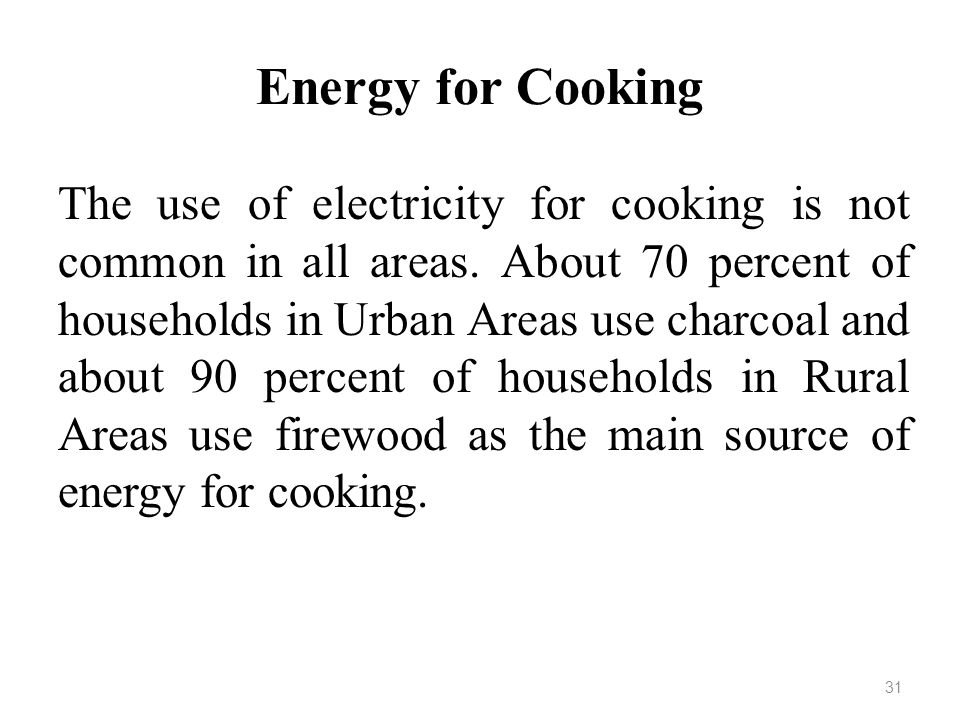 Energy for Cooking