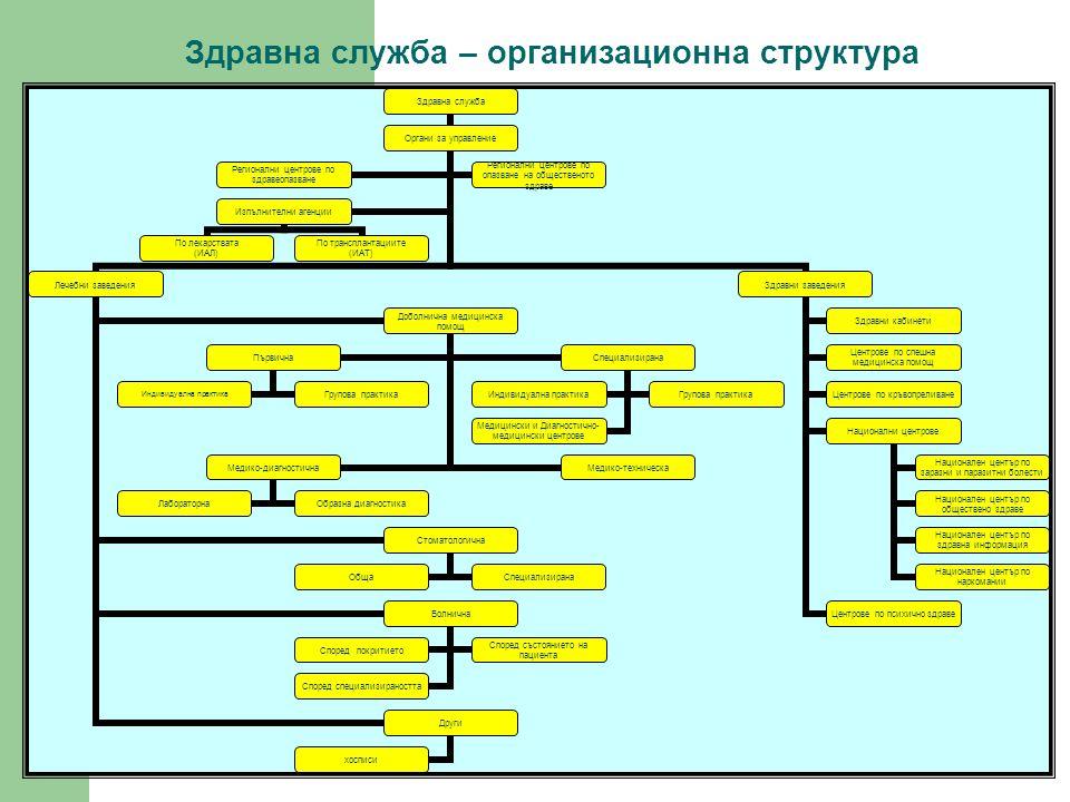 Здравна служба – организационна структура