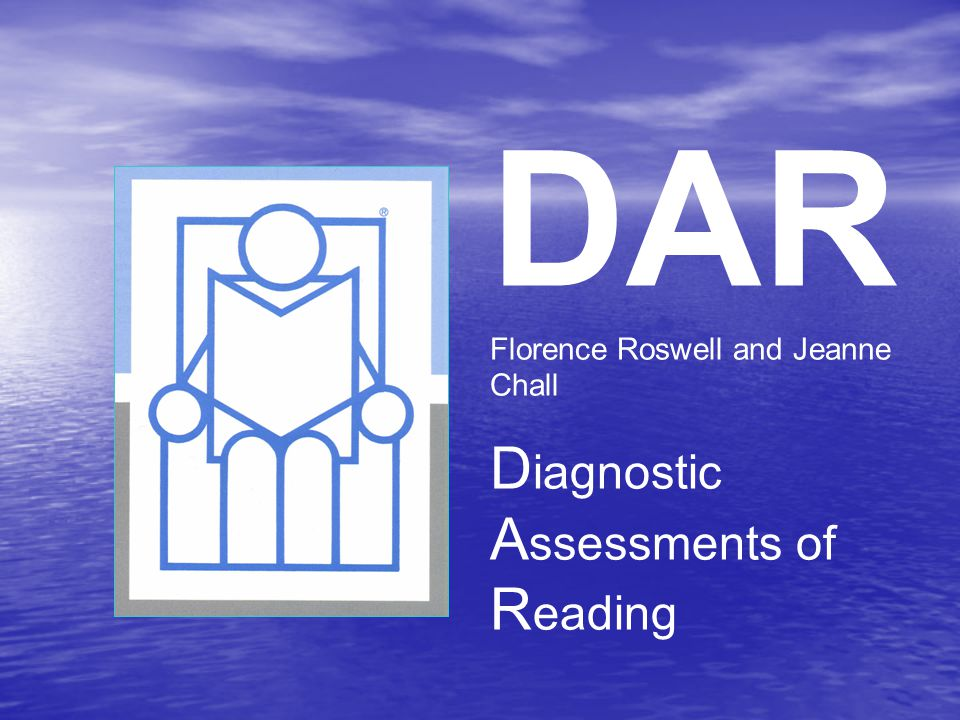 DAR Diagnostic Assessments of Reading