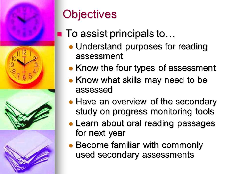 Objectives To assist principals to…