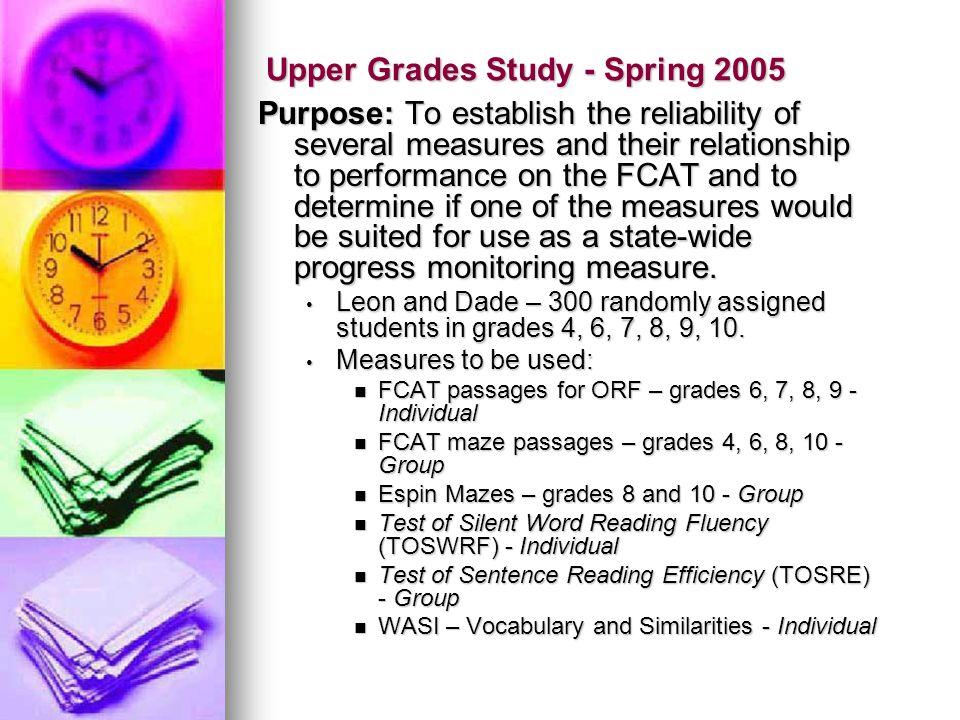 Upper Grades Study - Spring 2005