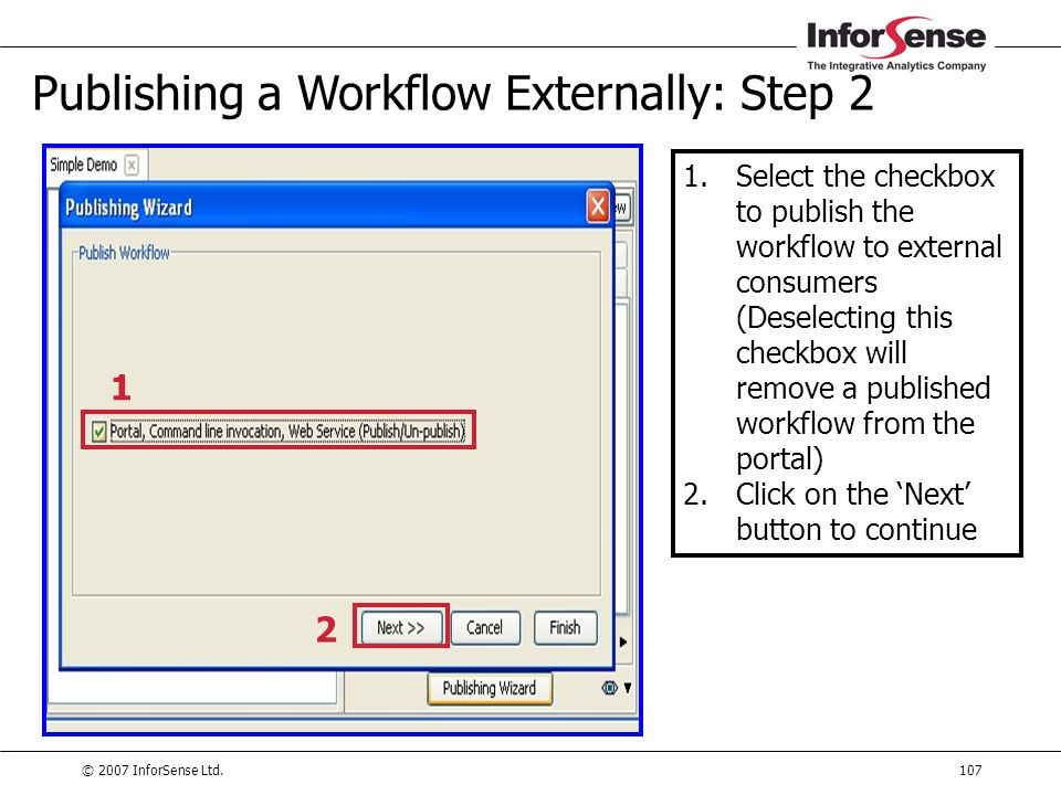 Publishing a Workflow Externally: Step 2