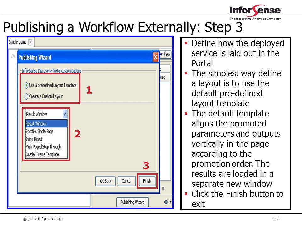 Publishing a Workflow Externally: Step 3
