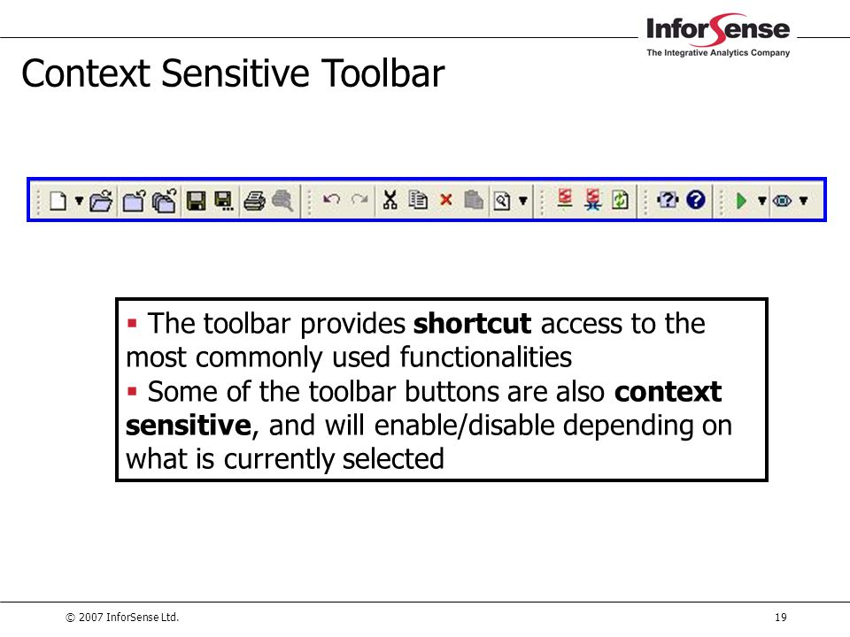 Context Sensitive Toolbar