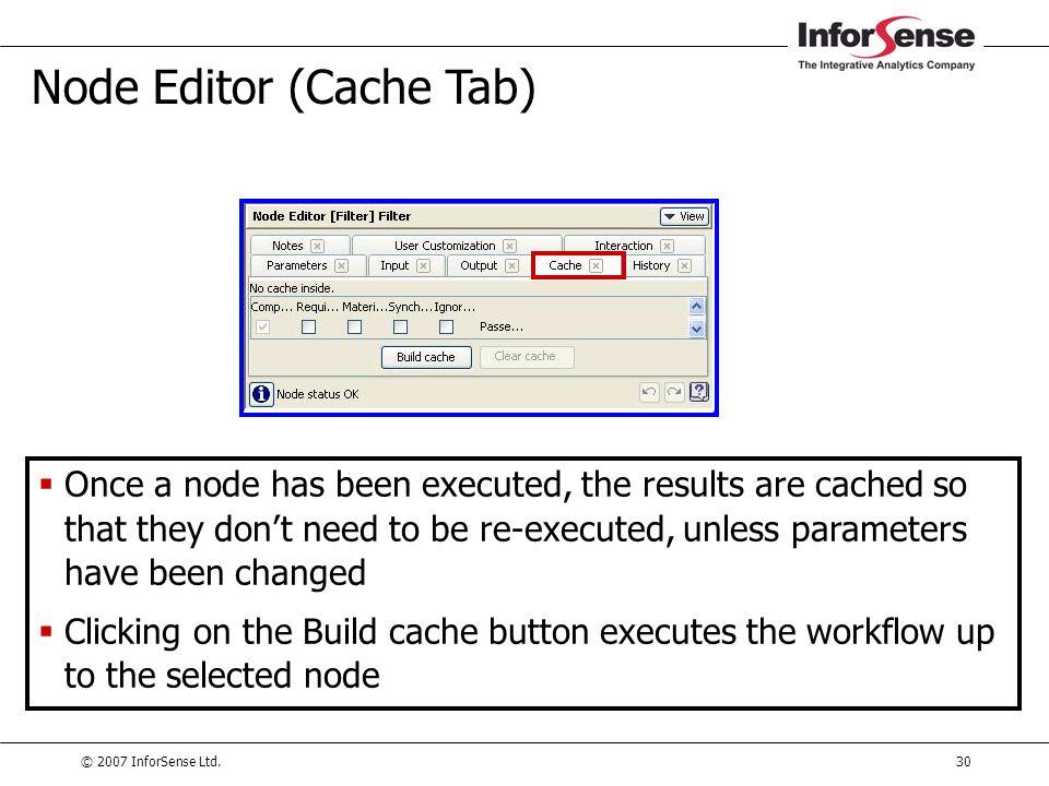 Node Editor (Cache Tab)