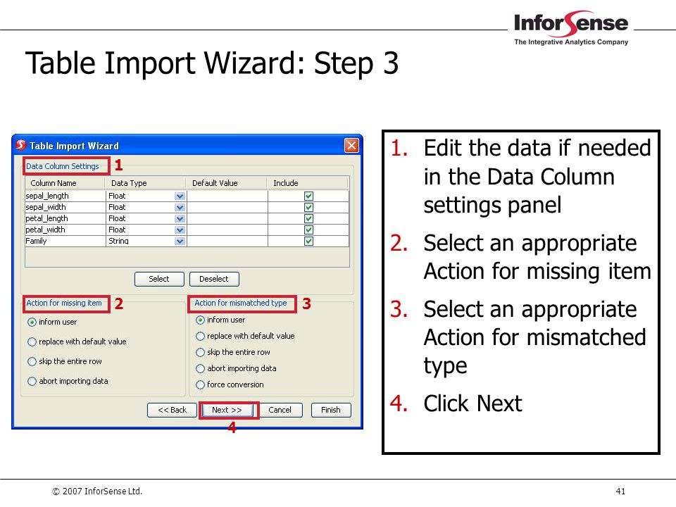 Table Import Wizard: Step 3