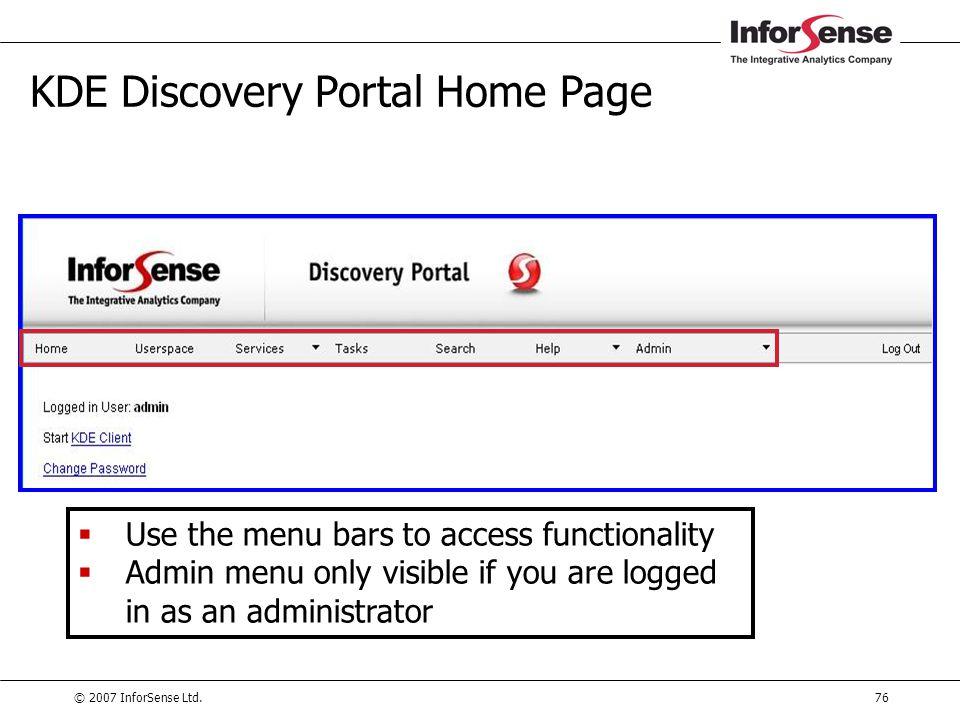 KDE Discovery Portal Home Page