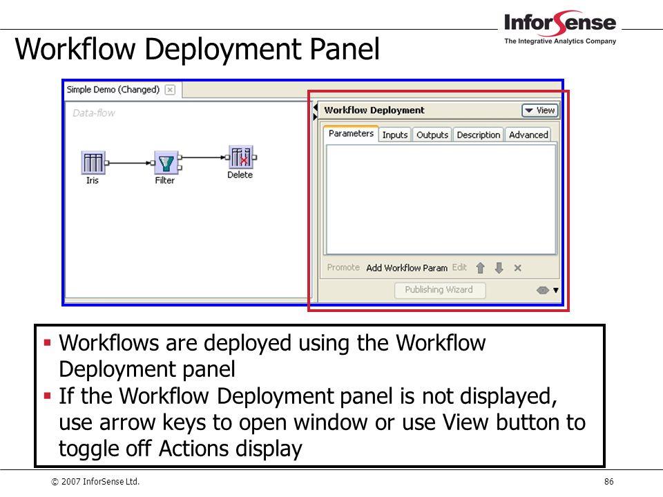 Workflow Deployment Panel