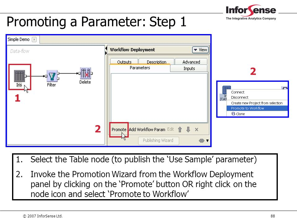 Promoting a Parameter: Step 1