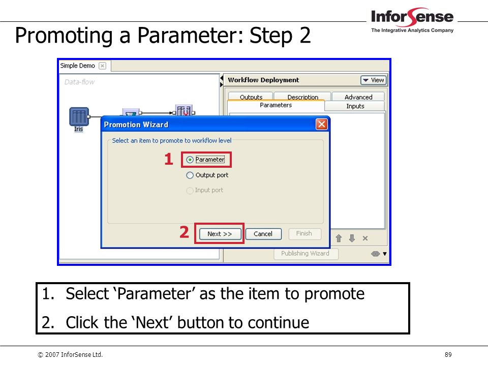 Promoting a Parameter: Step 2