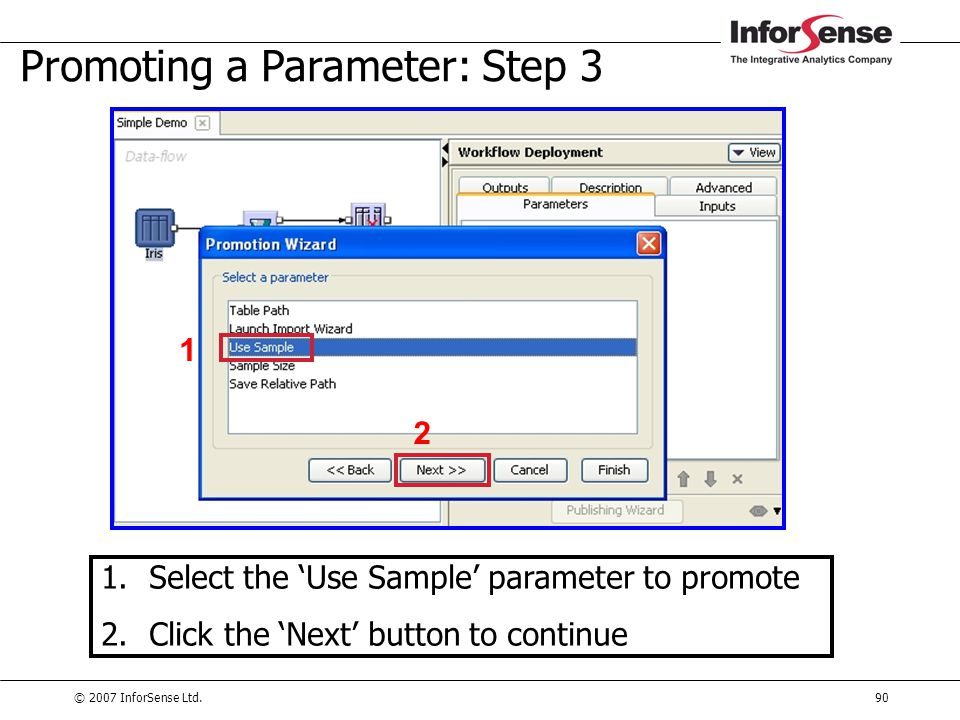 Promoting a Parameter: Step 3